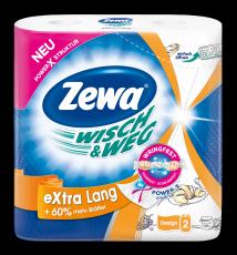 Zewa Wisch&Weg Design eXtra Lang, 2 x 72 Blatt