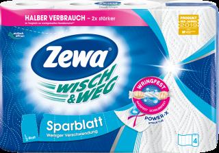 Zewa Wisch&Weg Sparblatt 4 x 74 Blatt